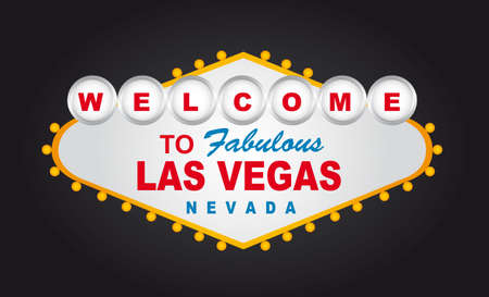 las vegas strip: welcome to fabulous las vegas nevada sign isolated. vector