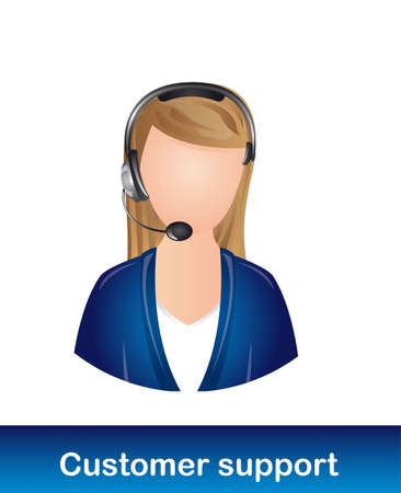 userpic: receptionist customer support over white background. vector