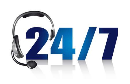 telecomunicaci�n: auriculares con sombra sobre fondo blanco. vector