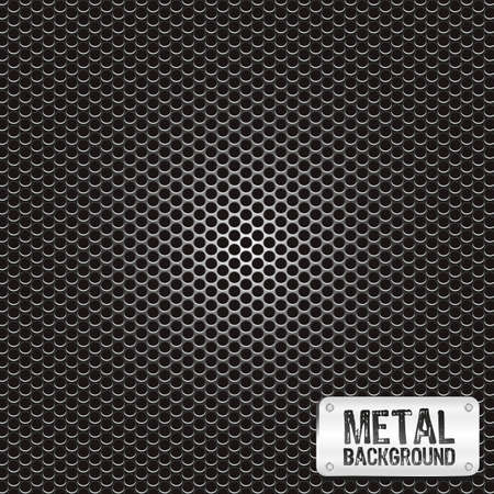 metal grid pattern, vector illustration Ilustração
