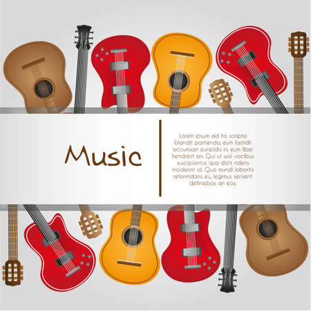 guitar background, with stripe for text Stock Vector - 13339568