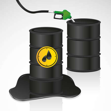 rising dead: oil and gasoline gallons illustration