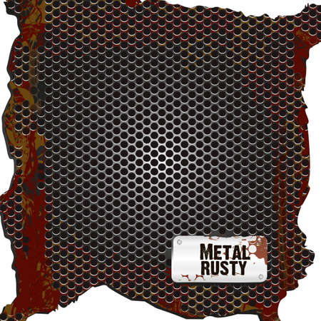 background grid pattern rusty, vector illustration Ilustração