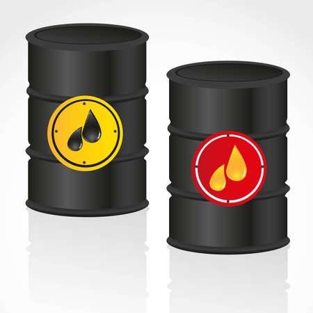 combustible: oil and petroleum gallon illustration