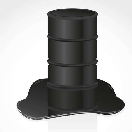 petroleum spill and gallon illustration Vector