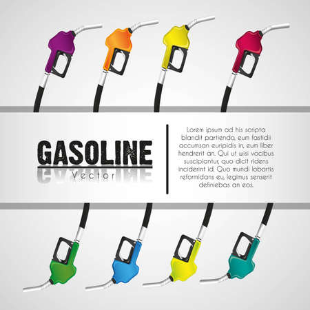 background gas pumps stripe on white background for text Stock Vector - 13339534