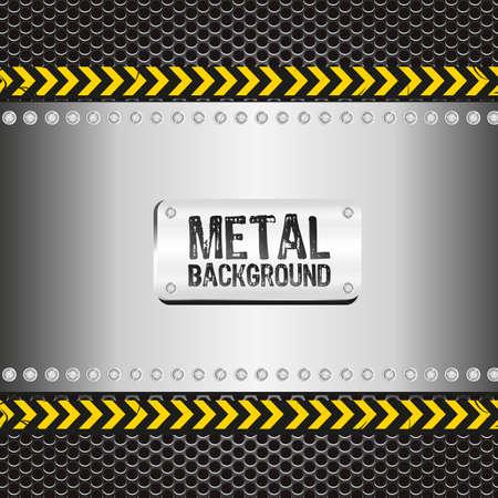 on metal: de fondo de la red, ilustraci�n vectorial Vectores