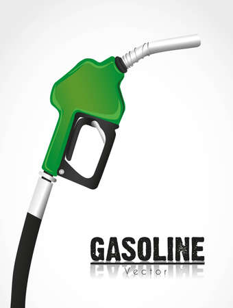 nozzle: green fuel pump isolated on white background Illustration