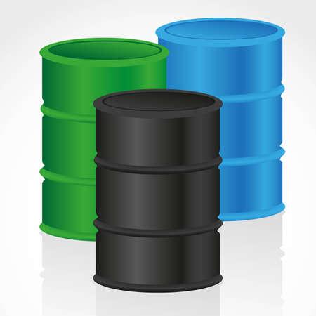 toxic barrels: fondo de galones, aisladas sobre fondo blanco, ilustraci�n vectorial