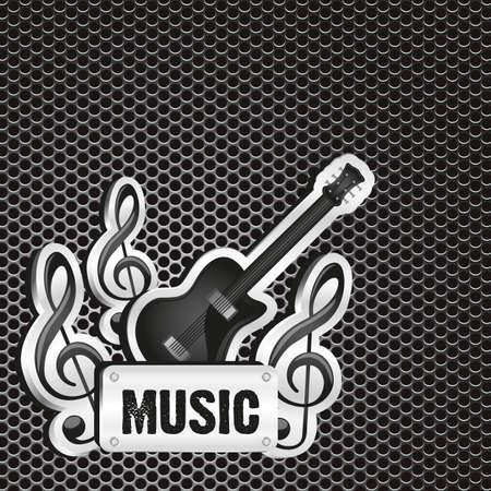 Music background grid pattern, vector illustration Vector