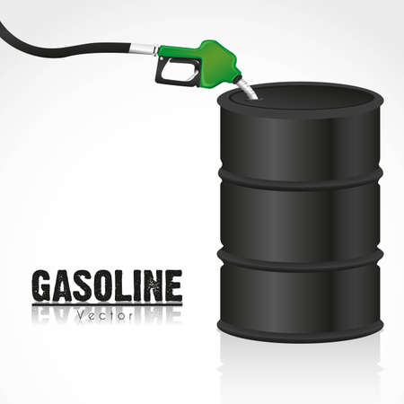 emission: gallon of fuel with gasoline dispenser illustration
