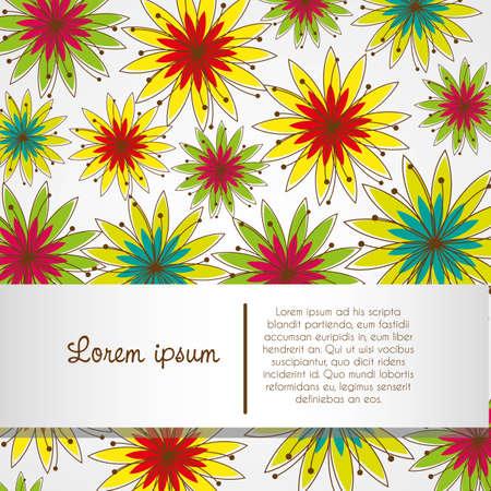 abloom: Flor de fondo banda patr�n y espacio para el texto