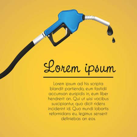 lekken: fonds lekkende benzine automaat, oranje achtergrond illustratie