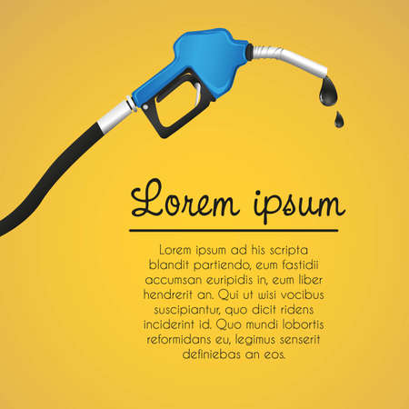 fund leaking gasoline dispenser, orange background illustration Vector