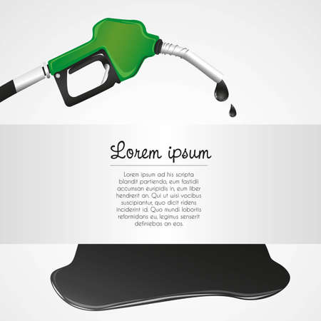 spillage: leaking petroleum dispenser with space for text
