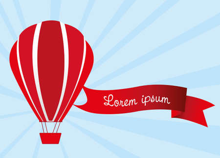 hot air balloon: hot air balloon with tape message illustration Illustration