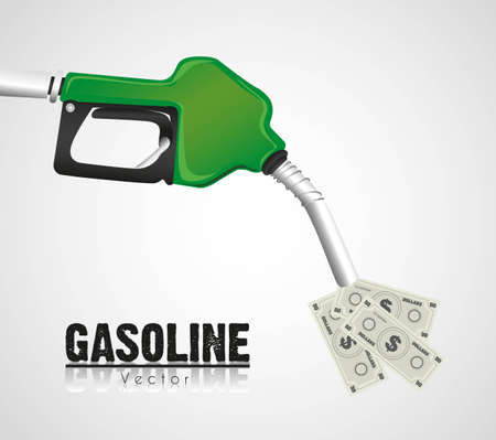 emission: gasoline dispenser throwing money illustration Illustration