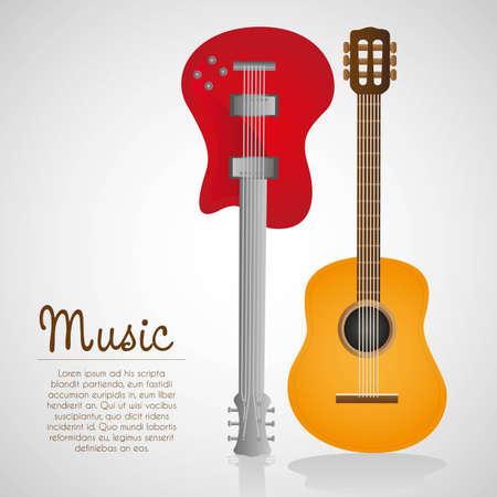 resonancia: guitarra el�ctrica y ac�stica, en la ilustraci�n de fondo blanco
