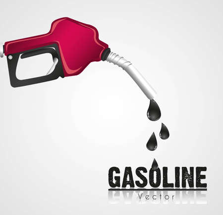 spillage: gasoline dispenser leaking, issolated on white background