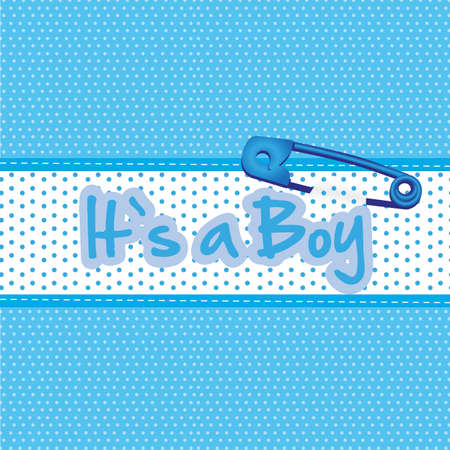 Background baby shower, its a boy illustration  Vector