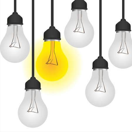 conceptual bulb: conceptual bulb, isolated on white background illustration