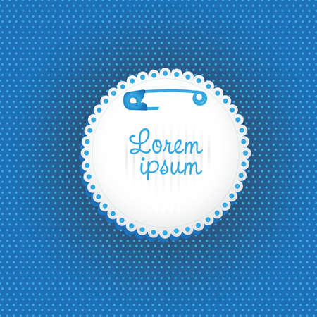 hang label with safety pin on bottom lines Vector