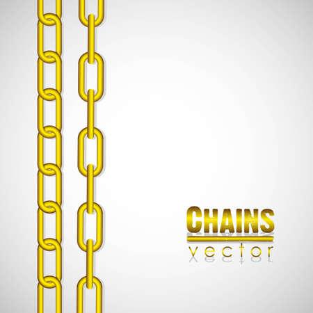 gold link chain illustration Stock Vector - 13447606