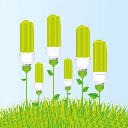 planting of ecological bulb illustration Vector