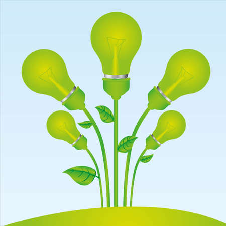 planting of green bulb illustration Vector