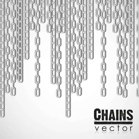 chain link: silver link chain dangling illustration Illustration