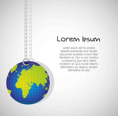 Keychain of planet, isolated on white background Stock Vector - 13448205