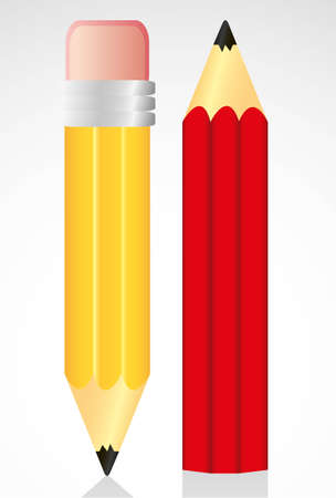 yellow and red pencil isolated on white background Stock Vector - 13447031