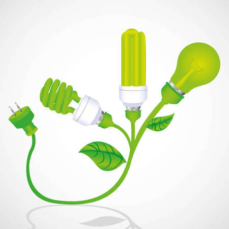 ecological plant bulb with plug illustration Stock Vector - 13447293