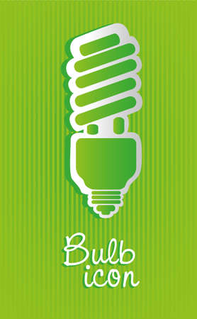 Saving bulb label isolated on green background Stock Vector - 13447033
