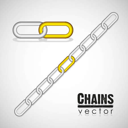 gold and silver link chain illustration Stock Vector - 13447610