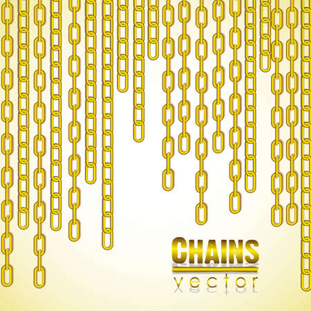 gold link chain dangling illustration Vector