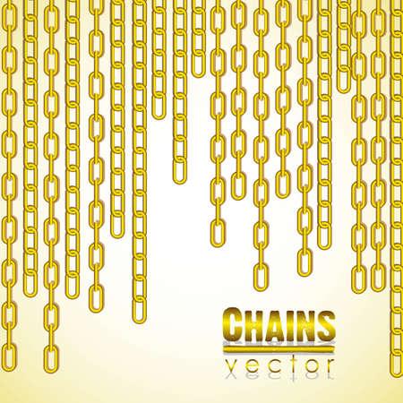 cadena de oro colgando enlace de la ilustración