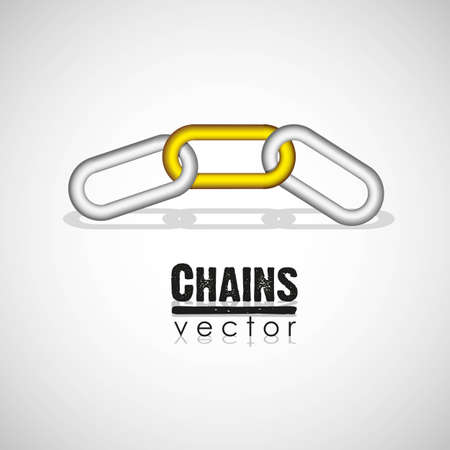 chain link concept illustration Stock Vector - 13447574