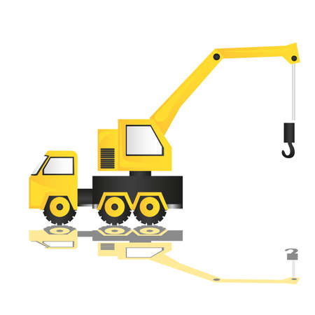 cartoon illustration of a crane, isolated on white background   Vector