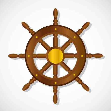 Boot Ruder, auf einem weißen Hintergrund, Vektor-Illustration
