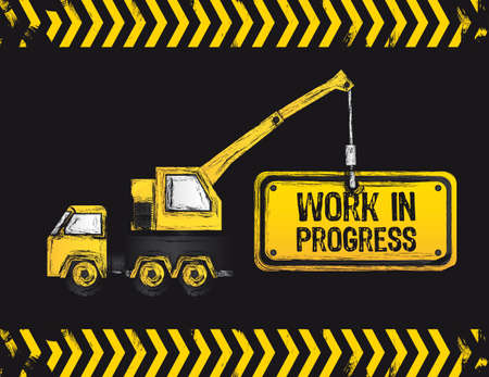 crane design, work in progress, vector illustration  Vector