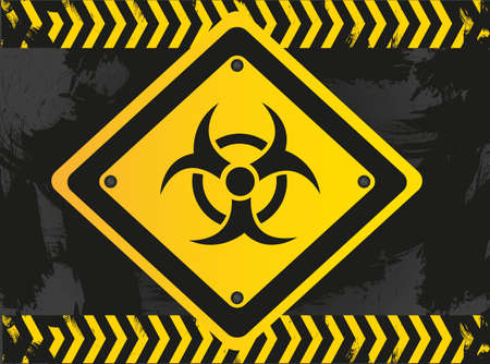 biohazard sign on grunge background Vector