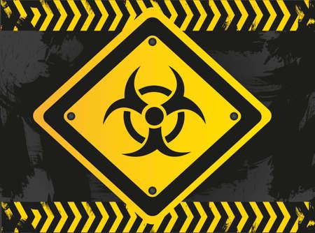 biohazard sign on grunge background Stock Vector - 13650699