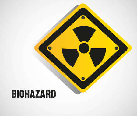 biohazard sign isolate on white background Vector
