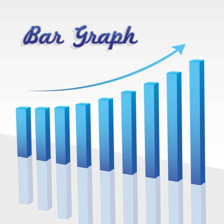 bar graph on the rise on white background Stock Vector - 13648965