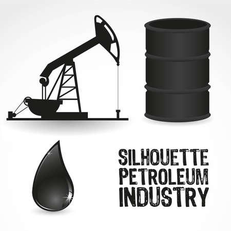 неочищенный: Значки в нефтяной промышленности, содержит галлон, насос и каплю масла