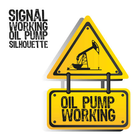 middle east crisis: signal oil pump silhouette