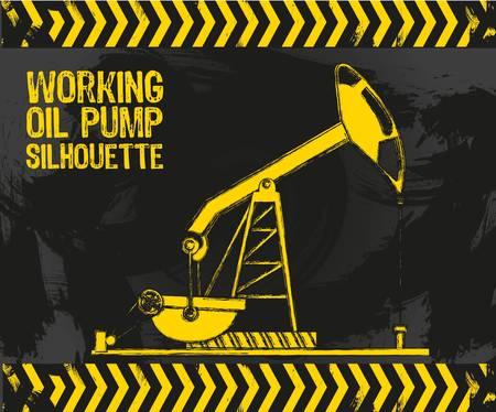 oil pipeline: la bomba de aceite con los bordes del grunge sobre un fondo grunge Vectores