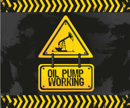 sign of an oil pump Stock Vector - 13650715