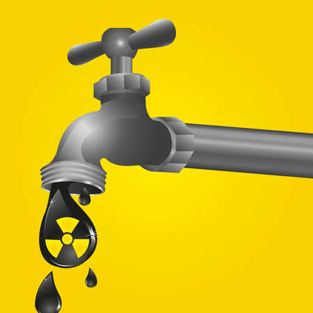 faucet dripping with biohazard icon Stock Vector - 13648775